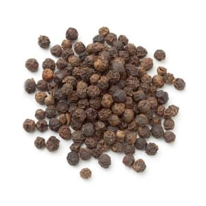 Shot of black pepper from above