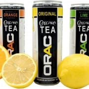 Orange, Lime and Original flavors of ORAC Teas