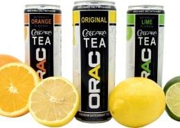 Orange, Lime and Original flavors of ORAC Teas